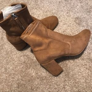 Zara boots.  Suede material. Great condition.